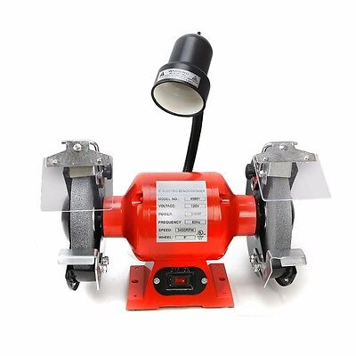 "8"" Bench Grinder With Light bright flexible work light spark guard 3/4 HP ul cul"