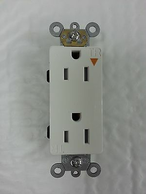 10 Tamper Resistant Isolated Ground Decorator Duplex Receptacle Decora White 15A