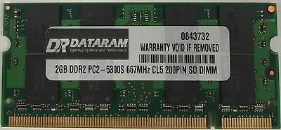 2X 1GB DDR2 Memory PC2-5300S 667MHZ 200 PIN for MacBook Pro A1211 A1151