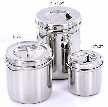 Cotton Jars - Medical Piercing Tattoo Instruments Cylindrical Jar with Cover