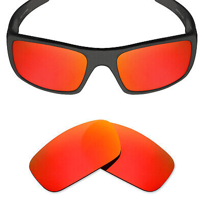 75d533b548a Mryok POLARIZED Replacement Lenses for-Oakley Crankshaft Sunglasses Fire Red