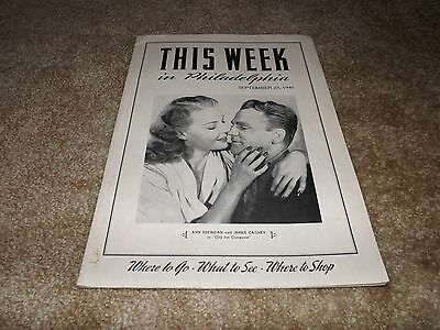This Week In Philadelphia - Sep 23, 1940 - Great James Cagney/ann Sheridan Cover