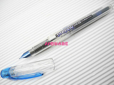 4 x Platinum Preppy 0.3mm Fine Refillable Fountain Pen, Blueblack(Made in Japan)