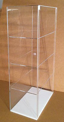 Acrylic COUNTERTOP Display Case 12 x 7 x 22.5 (different shelf spacing avail)
