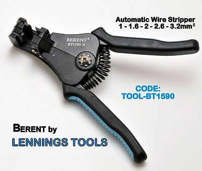 BERENT- WIRE STRIPPER - AUTOMATIC STRIPPING - 1 to 3.2mm2 - 1pc (TOOL-BT1590)