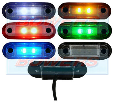 12V/24V Flush Fit White/amber/red/blue/green Led Marker Lights/lamps Kelsa Bar
