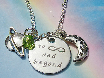 To Infinity And Beyond Charms Crystal Pendant Necklace Toy Story Buzz Lightyear