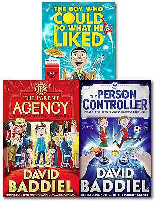 David Baddiel Collection 3 Books Set The Parent Agency, The Person Controller PB