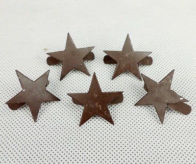 5PCS WWII Japanese Army Helmet Metal Star Pin Badge Insignia-D526