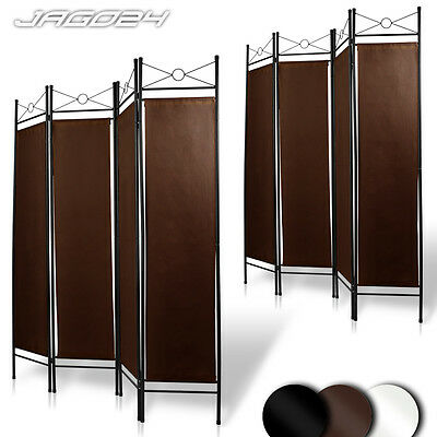 Room Divider Folding Screen Wall Partition Paravent 4-Panel Separator - Set of 2