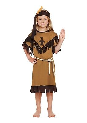 Childs Indian Girl Fancy Dress Dressing Up Outfit Kids Costume Age 4-9 New