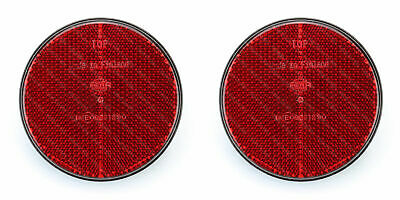 Pair of HELLA 85mm Round Red Rear Reflectors