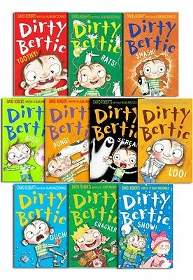 Dirty Bertie Collection David Roberts 10 Books Set Pack Series 2 Vol 11 to 20