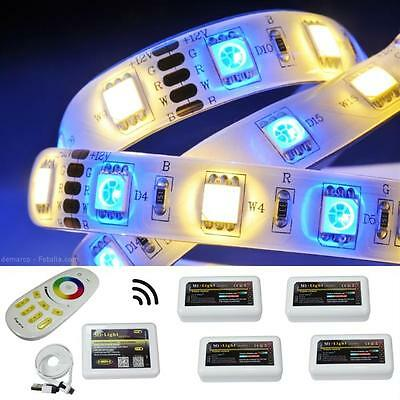 5-75m RGBWW RGB+WW LED Streifen Strip Leiste Band MiLight 4-Zone Controller WLAN
