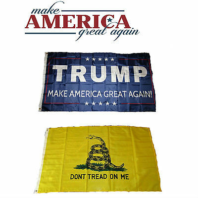 3x5 Donald Trump Red /& Maryland Gadsden Wholesale Flag Set 3/'x5/'