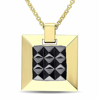 Amour Men's Geometric Necklace in 18k Yellow Gold Over Sterling