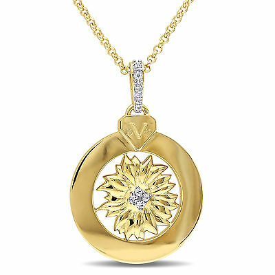 Amour 18k Gold Over Silver White Sapphire Necklace