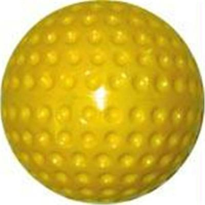 Olympia Sports BS126P Dimpled Pitching Machine Baseball Yellow