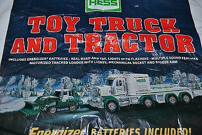 2013 HESS toy truck and tractor bag