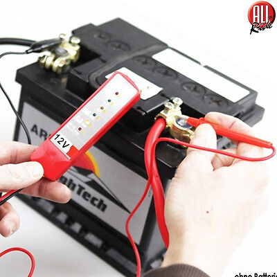 Tester Digitale 12V 6 LED Verifica Controllo Batteria Alternatore Auto Moto Test