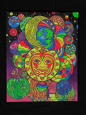 Original U.V art Jackie White Astral Bubbles 45x51cm canvas psychedelic backdrop
