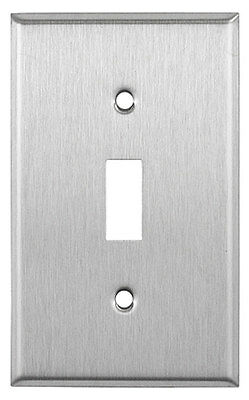 (10 pc) *NEW* Toggle Switch 1-Gang Stainless Steel Wall Plate Metal Wallplates
