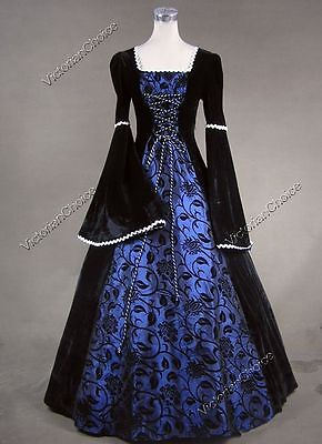 Renaissance Medieval Queen Princess Dress Gown Theatrical Reenactment Costme 129
