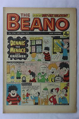 The Beano #1736 October 25th 1975 FN Vintage Comic Bronze Age Dennis The Menace