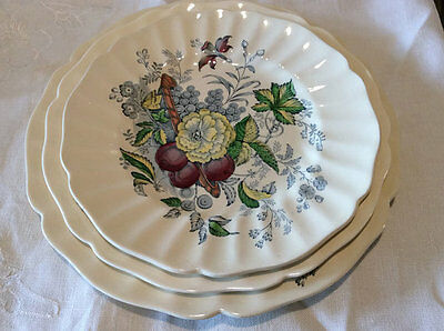 1930's Royal Doulton Kirkwood dinnerware 3 pc. place setting, Discontinued VGcd