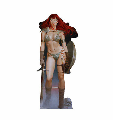 Red Sonja Marvel Red Dawn Comic Life Size Cardboard Cutout Standup