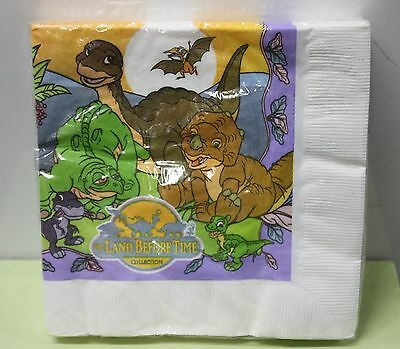 LAND BEFORE TIME NAPKINS Party Supplies Dinosaurs Birthday 1997 Luncheon NEW