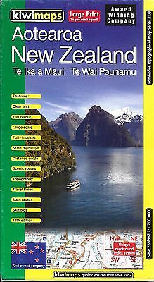Map of New Zealand, Country Map (Aotearoa) by KiwiMaps