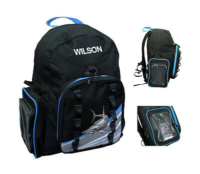 Wilson Fishing Backpack with 2 Tackle Boxes and Multiple Storage Pockets