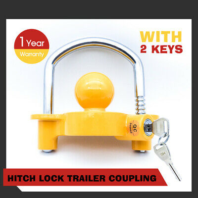 Hitch Lock Trailer Parts Coupling  Universal Tow Ball Caravan Camping Anti Theft