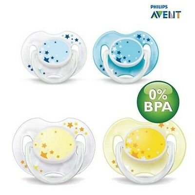 Philips Avent SCF176/18 - 2 Pieces Pacifier Dummy for the Night 0-6