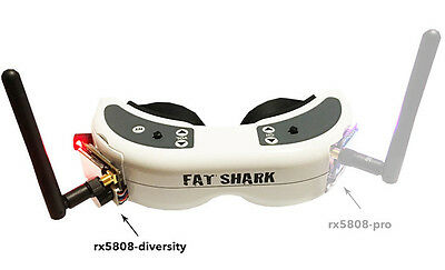 LaForge Pro FatShark RX 5.8Ghz diversity module with beeper and wire harness