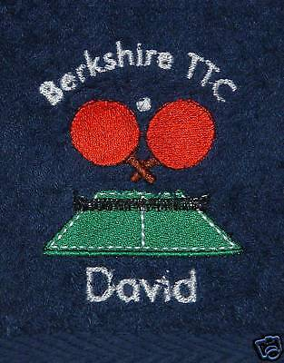 Personalised Table Tennis / Sports Towel - Embroidered