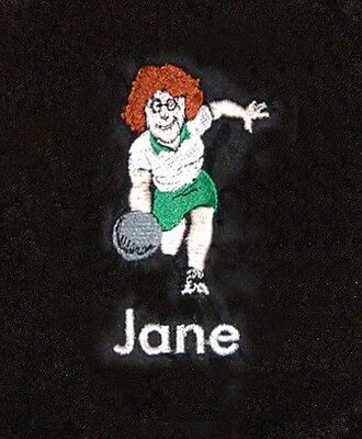 Personalised Ladies Bowls / Bowling Towel - Embroidered