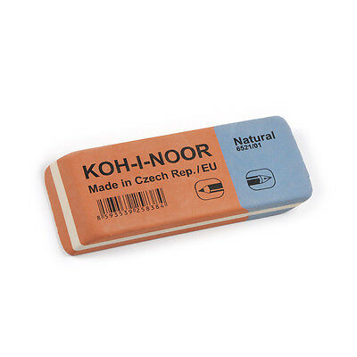 Koh-I-Noor 6521 General Purpose Combined Erasers - Standard & Jumbo Sizes NEW