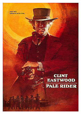 Pale Rider (1985) - A1/A2 Poster **BUY ANY 2 AND GET 1 FREE OFFER**