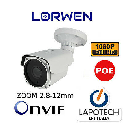 IP CAMERA ONVIF POE LIE60S200 TELECAMERA Bullet WDR 2.8-12 HD1080P P2P 3MP 2 MPX