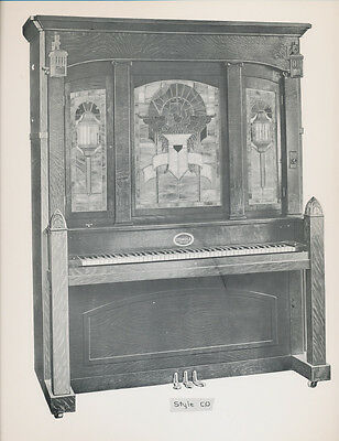 """COINOLA player Piano - Style C.O -  vintage glossy 9.5x12"""" ad"""