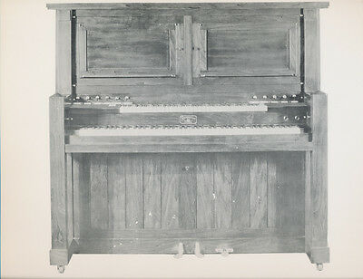 "REPRODUCO upright player Piano - TWO SCANS - vintage glossy 9.5x12"" ad"