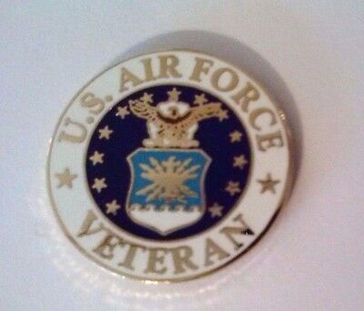 United States Air Force Veteran  Hat Pin 1""