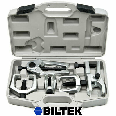 6pc Front End Service Tool Kit Ball Joint Separator Pitman Arm Tie Rod Puller