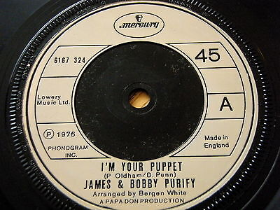 """James & Bobby Purify - I'm Your Puppet  7"""" Vinyl"""