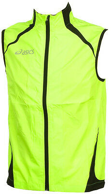Asics Stef Mens Running Gilet - Yellow