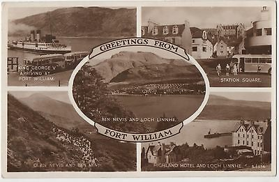 POSTCARD  SCOTLAND  Fort William  Greetings