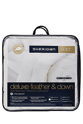 NEW Sheridan Deluxe 50/50 Goose Feather & Down Quilt