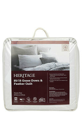 NEW Heritage 85/15 Goose Down & Feather Quilt